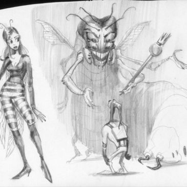 Earthworm Jim concept art