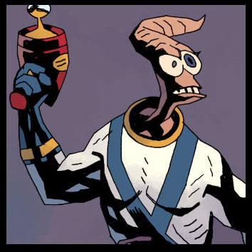 Earthworm Jim exclusive cover by Mike Mignola